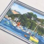 Fiona Carver Yellow Boat in Fowey Wychwood Art copy