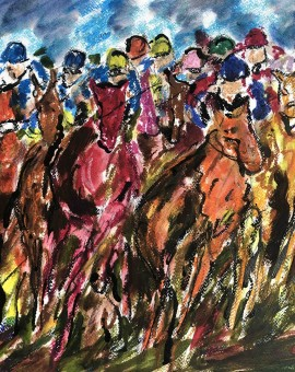 Garth Bayley. The Full Gallop. Wychwood Art. full