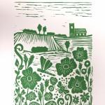 Joanna Padfield Summer Meadow Linocut Print 1