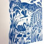 Joanna Padfield Swan Linocut Print