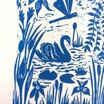 Joanna Padfield Swan Linocut Print 4