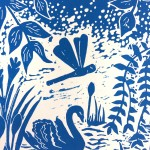Joanna Padfield Swan Linocut Print 5