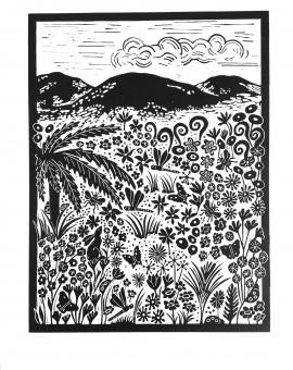 Joanna Padfield Tree Fern Linocut Print 1