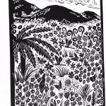 Joanna Padfield Tree Fern Linocut Print 3