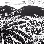 Joanna Padfield Tree Fern Linocut Print 4