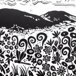 Joanna Padfield Tree Fern Linocut Print 5