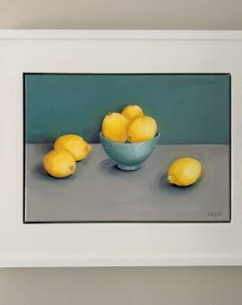 Jonquil Williamson Lemons Framed 1 Wychwood Art