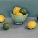 Jonquil Williamson Lemons and Limes canvas Wychwood Art