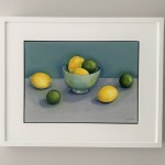 Jonquil Williamson Lemons and Limes framed Wychwood Art