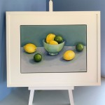 Jonquil Williamson Lemons and Limes on easel Wychwood Art
