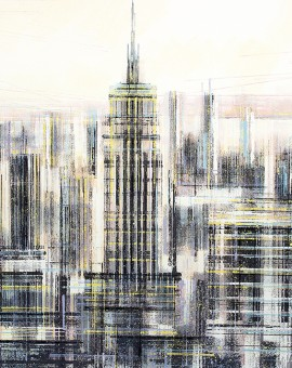 Marc Todd. New York Manhattan Skyline, Original Contemporary Cityscape Painting, New York Paintings For Sale Online