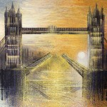 Marc Todd. Tower Bridge At Sunset. Original Contemporary London Painting, Cityscape Paintings For Sale Online