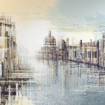 Marc Todd. Venice At Sunset, Original Contemporary Cityscape Painting. Venice Paintings For Sale Online