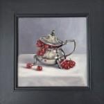 Marie Robinson Currant Pot framed cropped Wychwood Art_