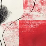 Mary Knowland Poppy14 Original Monoprint Detail2