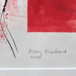 Mary Knowland Poppy14 Original Monoprint Signature