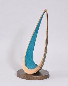 Philip Hearesy Drift Contemporary bronze sculpture