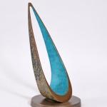 Philip Hearesy Drift Contemporary bronze sculpture..