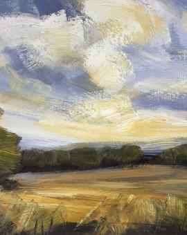 Suzanne Winn Early Autumn Study III Wychwood Art Original Landscape Painting