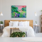 This Ones For You Alanna Eakin Mock Up Bed Pink and Green Abstract Expressive