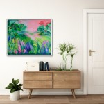 This Ones For You Alanna Eakin Mock Up Sideboard Frames Abstract Landscape