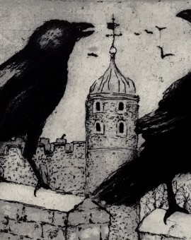 Tim Southall. Ravens At The Tower. Wychwood Art