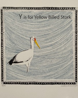 Y is for Yellow Stork