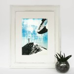 on_top_of_the_world_II_framed_hikeabike_mountain_biking_mtb_lake_district_screenprint_katie_edwards_illustration_art
