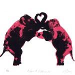 A_pair_of _elephants_valentines_day_love_heart_animals_pairs_in_love_true_love_romance_screenprint_katie_edwards_illustration_art