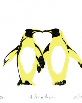 A_pair_of _penguins_valentines_day_love_heart_animals_pairs_in_love_true_love_romance_screenprint_katie_edwards_illustration_art