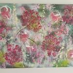 Abstract Flowers Hydrangeas