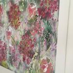 Abstract Flowers Hydrangeas 8cm deep edge