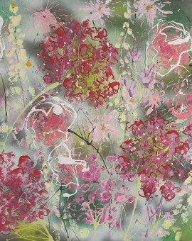 Abstract Flowers Hydrangeas Julia Adams Wychwood Art