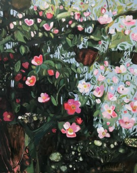 Elaine Kazimierczuk Catching the Sunshine, Hedgerow with Dog Roses, Wychwood Art
