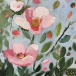 Elaine Kazimierczuk Catching the Sunshine, Hedgerow with Dog Roses, Wychwood Art detail 1