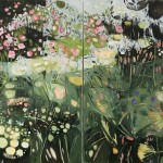 Elaine Kazimierczuk Diptych, Path to Minster Lovell, Oxfordshire, Wychwood Art