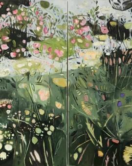 Elaine Kazimierczuk Diptych, Path to Minster Lovell, Oxfordshire, Wychwood Art