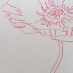 Ellen Williams Poppy IIV Wychwood Art close up
