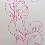 Ellen Williams Sweet Pea VII Wychwood Art close up flower