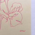 Ellen Williams Sweet Pea VII Wychwood Art signature