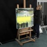 Gina Parr Sun on the Warren 2 studio scale Wychwood Art