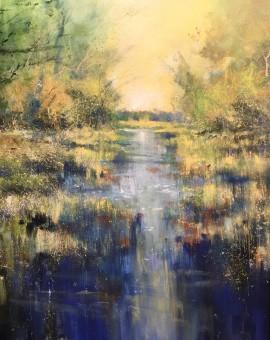 Hidden stream 80x80cm acrylic on canvas_IMG_0242