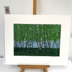 Jennifer Jokhoo Summer birches on easel