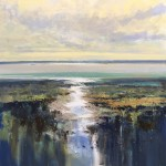 Late afternoon in the Estuary 80x80cm £1295 acrylic on canvas