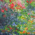 Mary Chaplin Along the nasturtium path in Monet s garden in Giverny (detail1)Wychwood Art