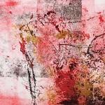 Mary Knowland Poppy 17 Wychwood Art Original Signed Monoprint Detail
