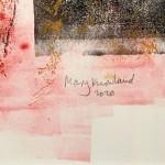 Mary Knowland Poppy 17 Wychwood Art. Original Monoprint Signature
