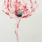 Mary Knowland Poppy15 Wychwood Art Original Monoprint Image size38cmhx28cmw