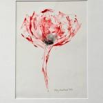 Mary Knowland Poppy15 Wychwood Art Original Monoprint in Mount 52cmhx40.5cmw
