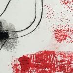 Mary Knowland Poppy16 Original Monoprint Detail2